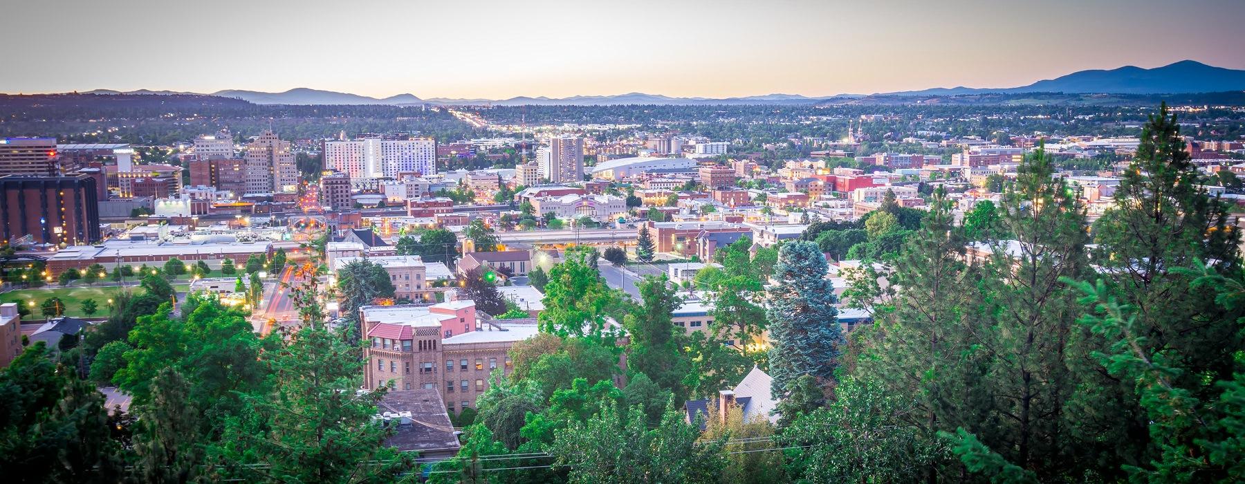 Spokane City Skyline